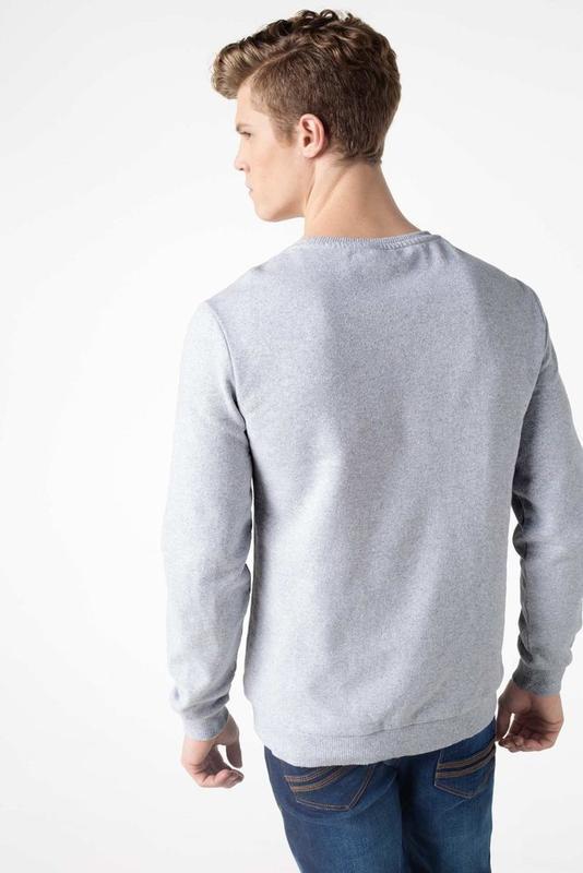 Серый мужской свитшот de facto / де факто с рисунком на груди - Фото 3