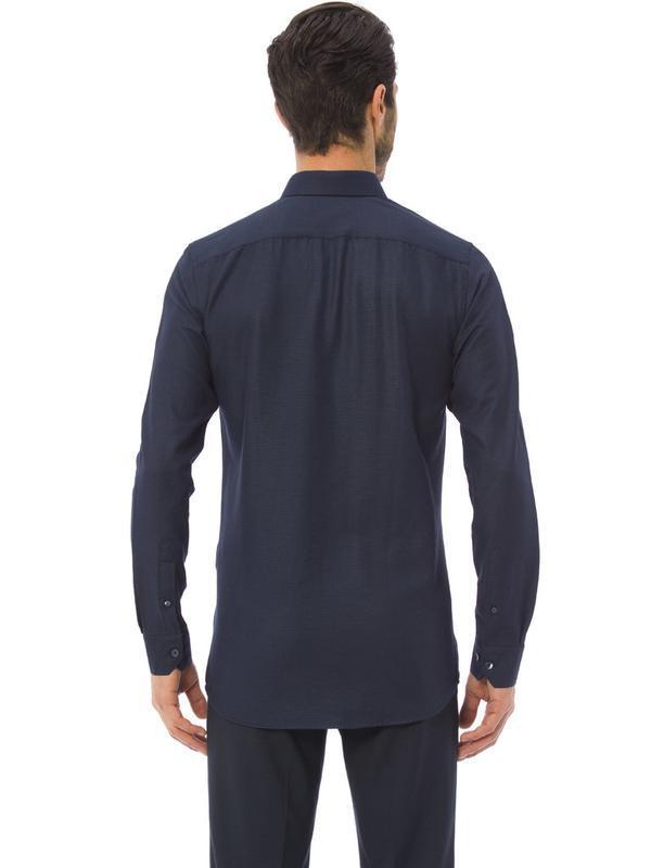 Мужская рубашка синяя lc waikiki / лс вайкики - Фото 3