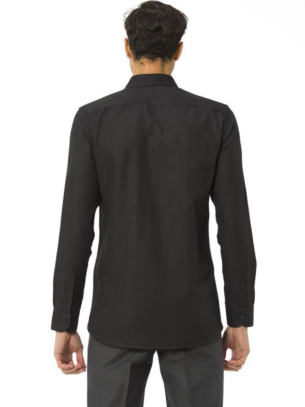 Мужская рубашка черная lc waikiki / лс вайкики на черных пугов... - Фото 3