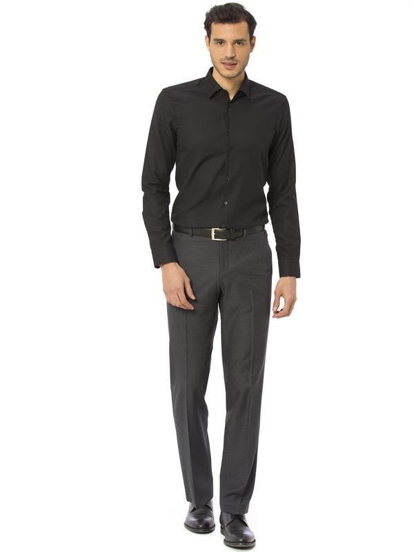 Мужская рубашка черная lc waikiki / лс вайкики на черных пугов... - Фото 4