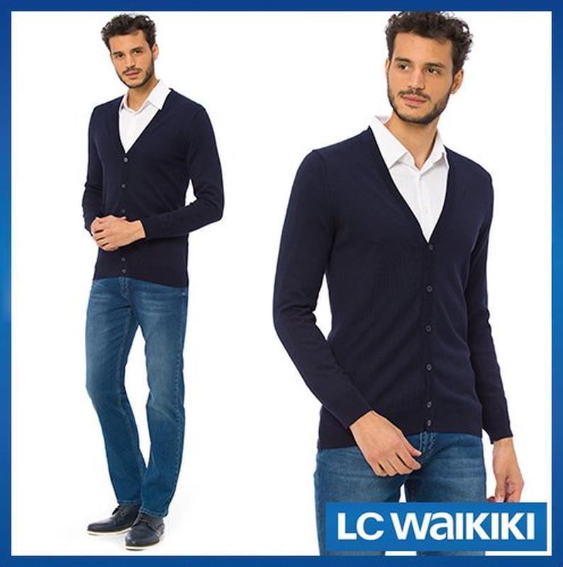 Синий мужской кардиган lc waikiki / лс вайкики на пуговицах
