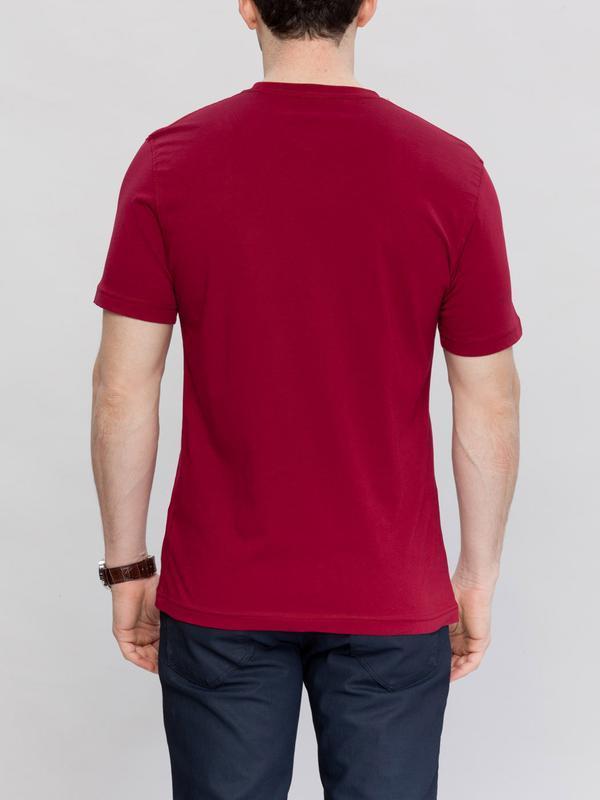 Мужская футболка бордовая lc waikiki / лс вайкики с круглым вы... - Фото 3