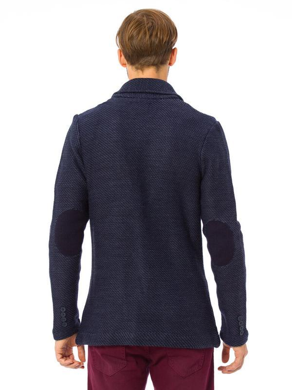 Синий мужской пиджак lc waikiki / лс вайкики с латками и карма... - Фото 4