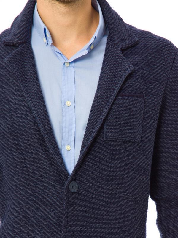 Синий мужской пиджак lc waikiki / лс вайкики с латками и карма... - Фото 6