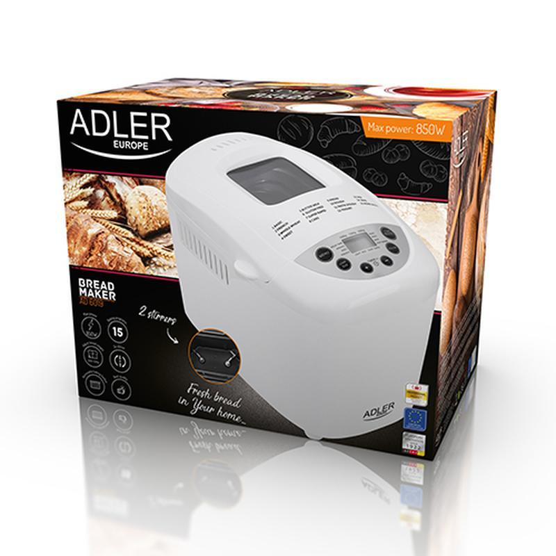 Хлебопечка Adler AD 6019 850 Вт - Фото 8