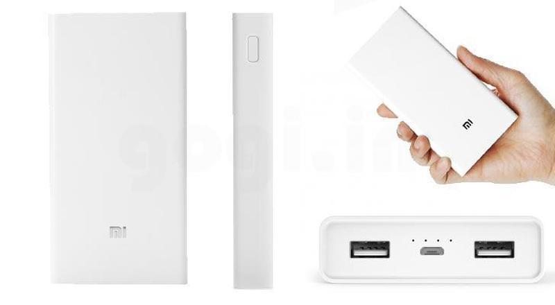 Power bank Xiaomi 20000mAh 2 USB мощный повербанк, портативная - Фото 3