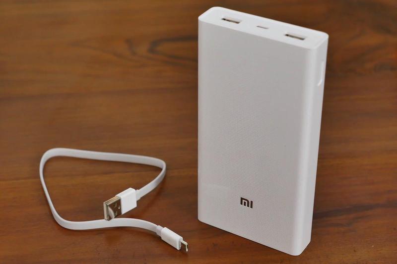 Power bank Xiaomi 20000mAh 2 USB мощный повербанк, портативная - Фото 2