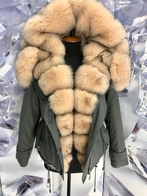 Шикарные теплые парки куртки с мехом финского песца