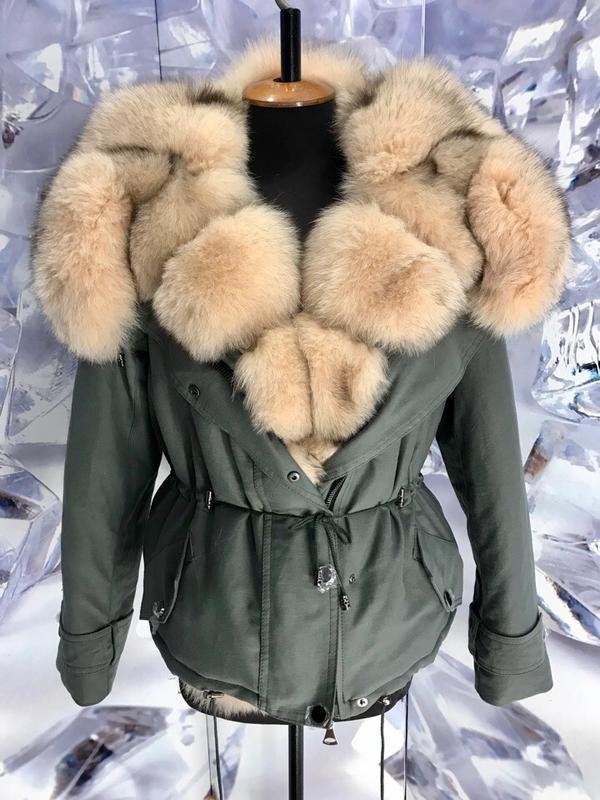 Шикарные теплые парки куртки с мехом финского песца - Фото 2