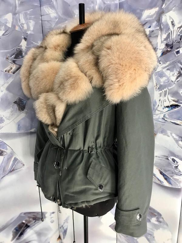 Шикарные теплые парки куртки с мехом финского песца - Фото 5
