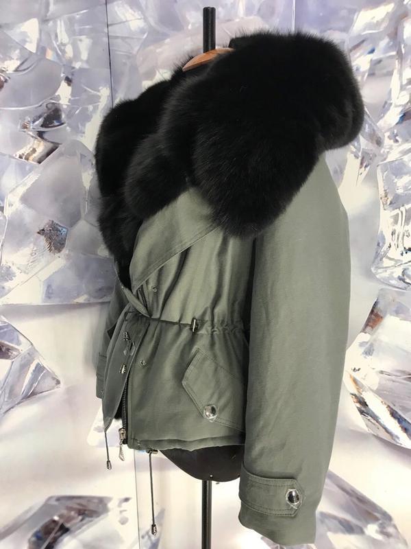 Шикарные теплые парки куртки с мехом финского песца - Фото 4
