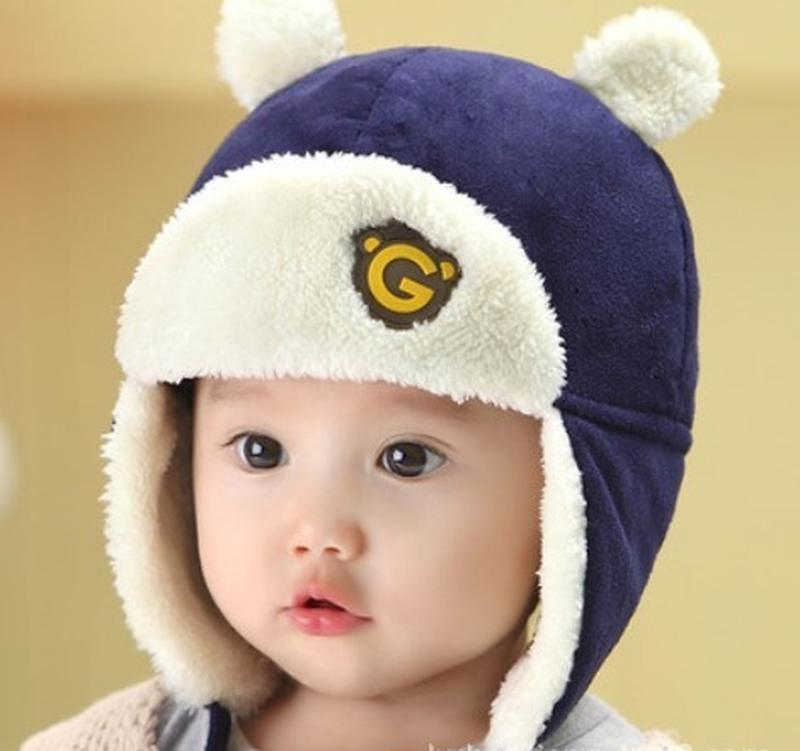 Шапка детская осень теплая зима шапка дитяча