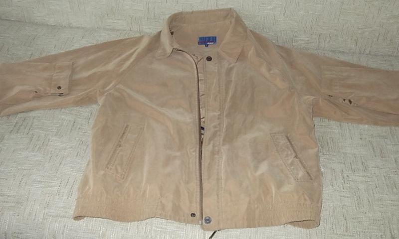 Куртка ветровка мужская. 52 Цвет песочный - Фото 5