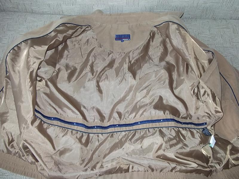 Куртка ветровка мужская. 52 Цвет песочный - Фото 6