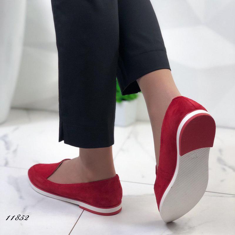 Натуральные замшевые туфельки