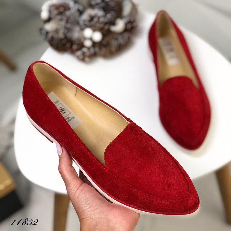 Натуральные замшевые туфельки - Фото 2