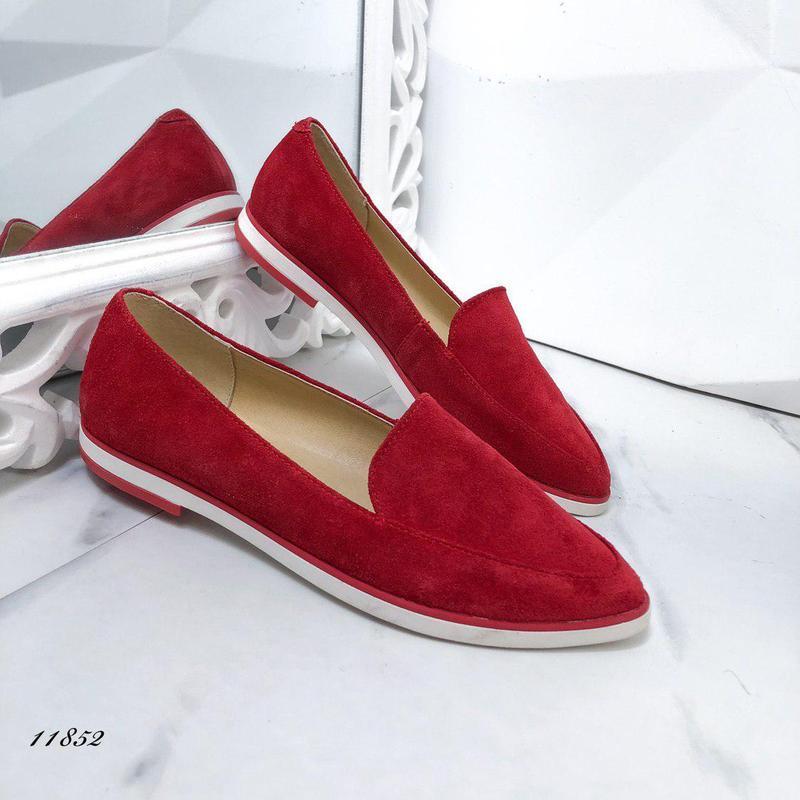 Натуральные замшевые туфельки - Фото 4