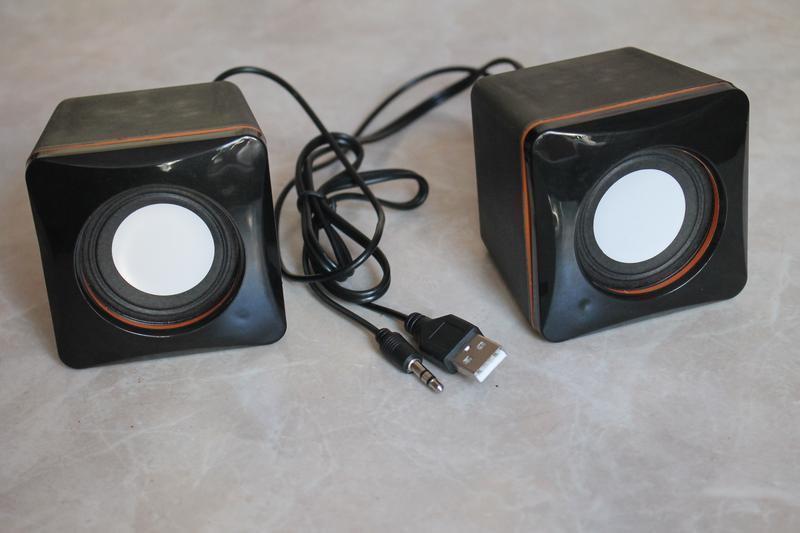 Нові Міні-колонки Lesko G101 Black для компьютера, ноутбука USB 2