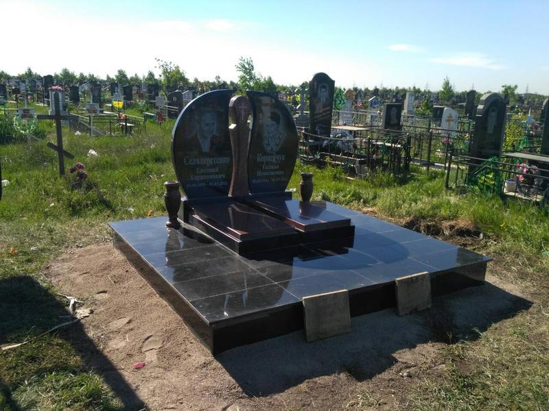 Памятник гранитный для двоих. семейный - Фото 3
