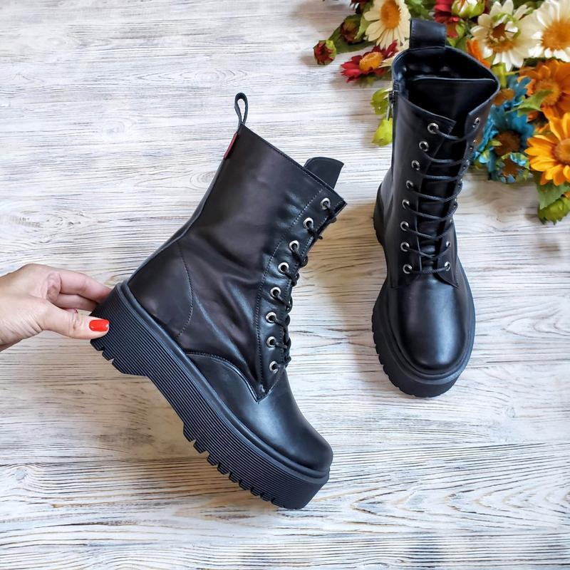 Кожаные ботинки осень/зима