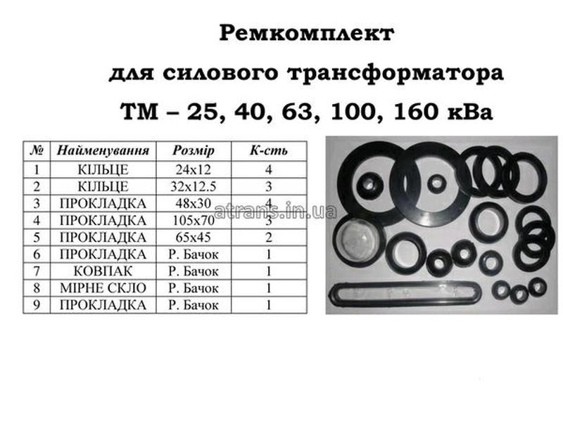 Ремкомплект на трансформатор тм 25,40,63,100,160 кВа