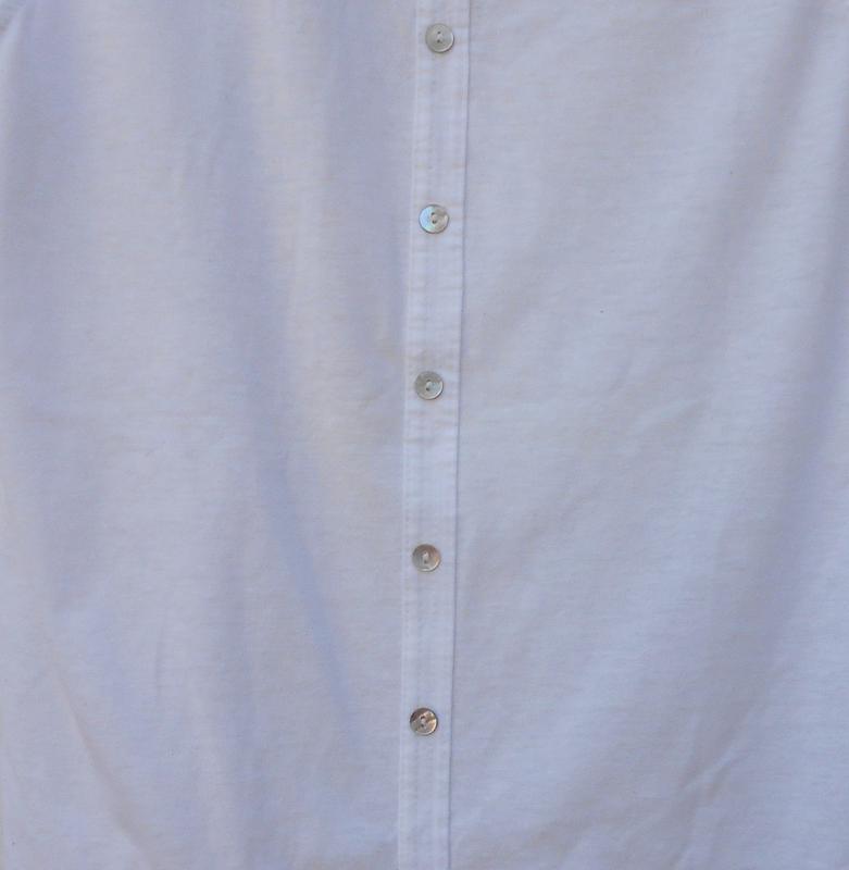 Белая  трикотажная  мяйка с кружевом - Фото 4