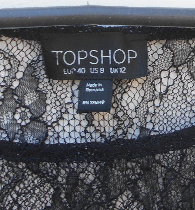 Черная  кружевная блузка  топ - Фото 2