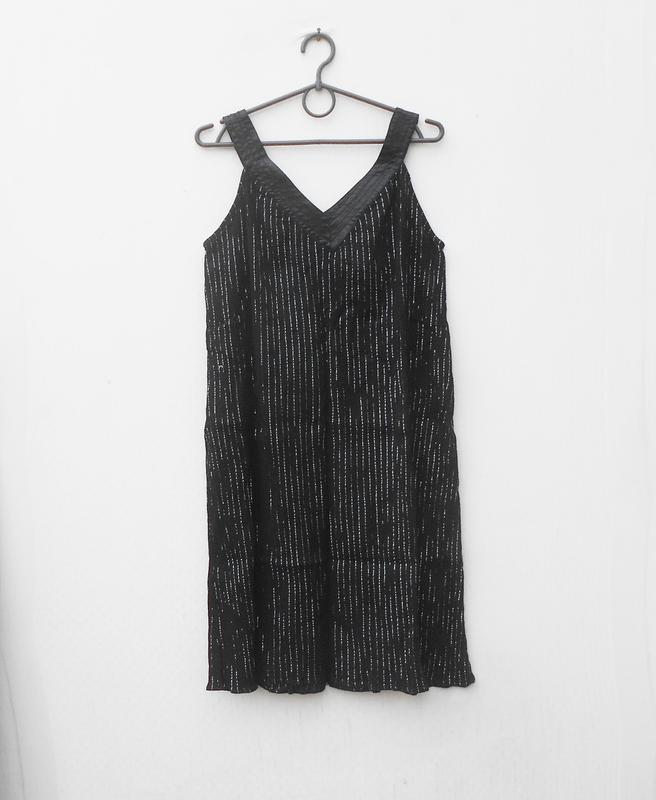 Черное свободное легкое летнее   платье сарафан из хлопка - Фото 5