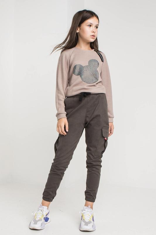 Модные хлопковые брюки с карманами в разных цветах