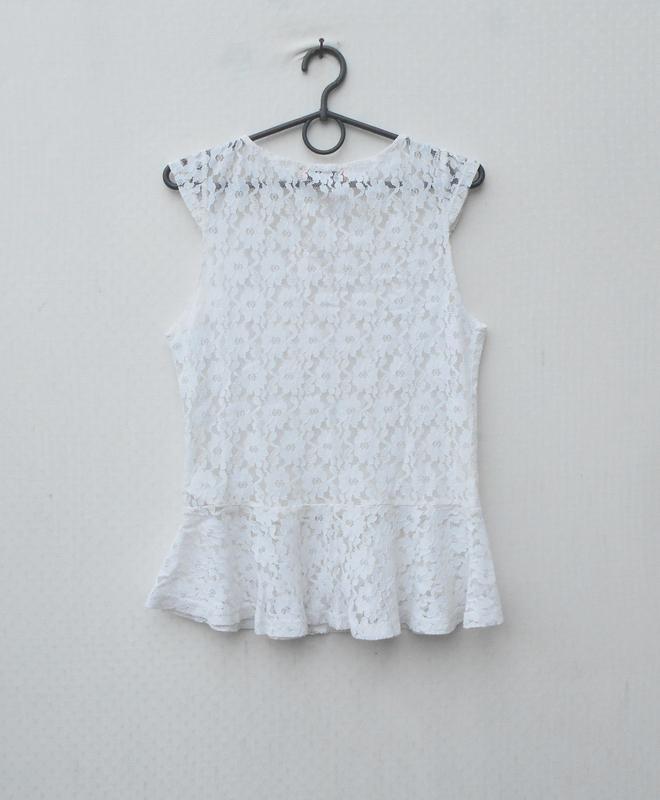 Летняя кружевная блузка  без рукавов - Фото 3