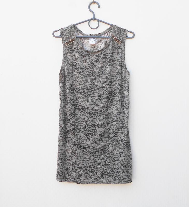 Летняя трикотажная удлиненная блузка