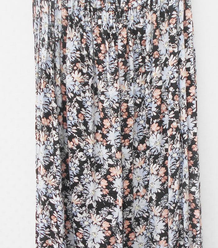 Летнее легкое платье бюстье из вискозы в пол с цветочным орнам... - Фото 5