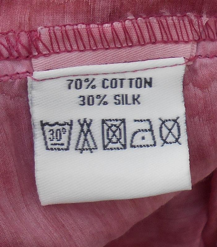Летняя легкая винтажная блузка с длинным рукавом из шелка и хл... - Фото 2