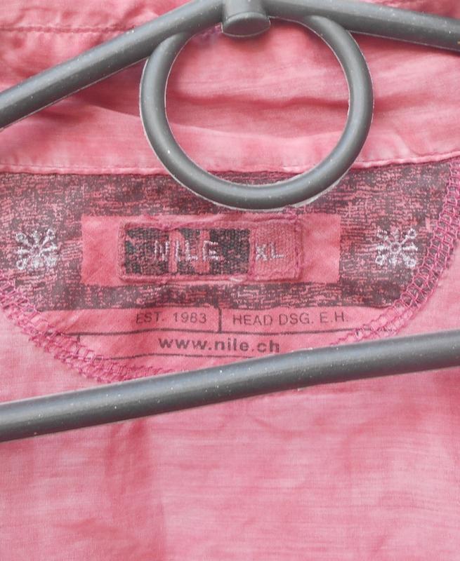 Летняя легкая винтажная блузка с длинным рукавом из шелка и хл... - Фото 4