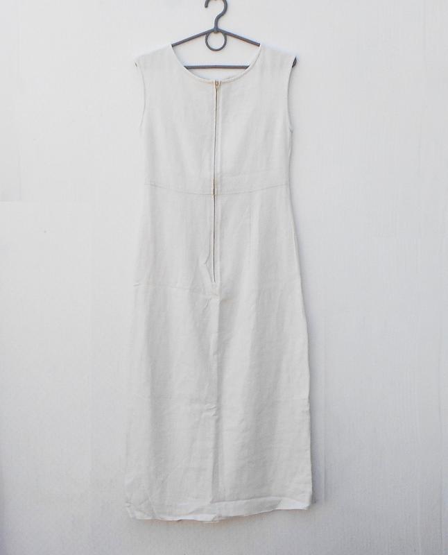 Летнее бежевое платье 55% из льна и 45% вискозы - Фото 2