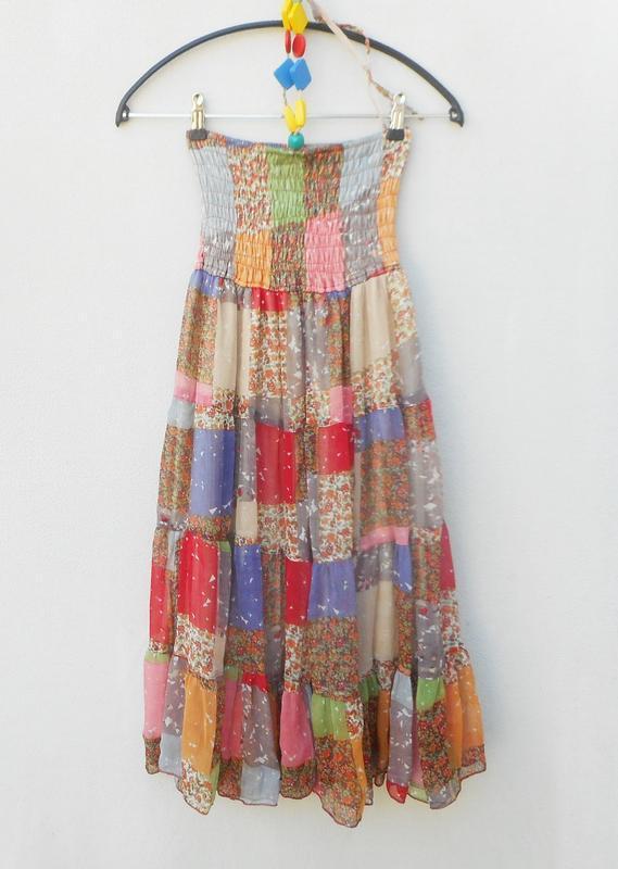 Летнее легкое  платье сарафан бюстье