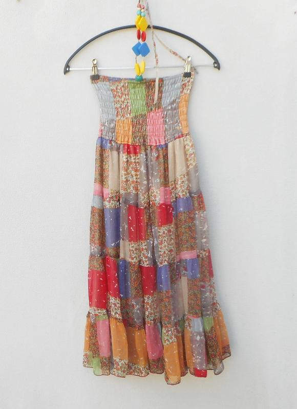 Летнее легкое  платье сарафан бюстье - Фото 4