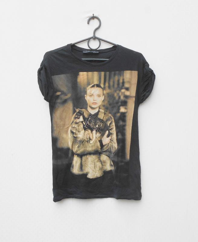 Летняя хлопковая легкая футболка zara