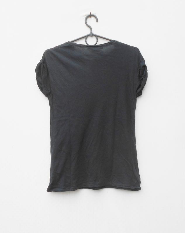Летняя хлопковая легкая футболка zara - Фото 2