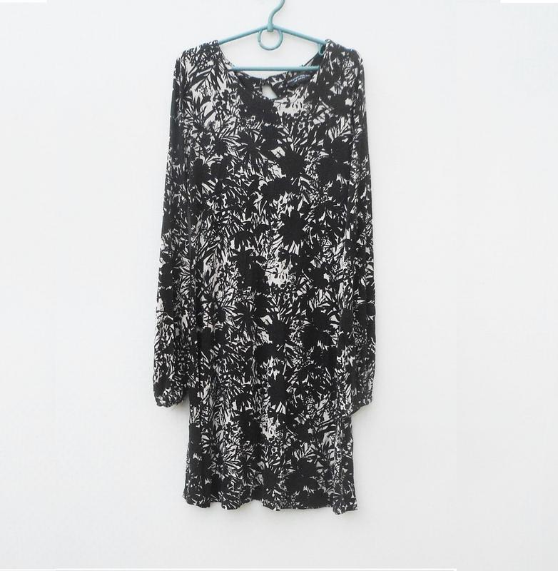 Трикотажное платье с длинным рукавом из вискозы