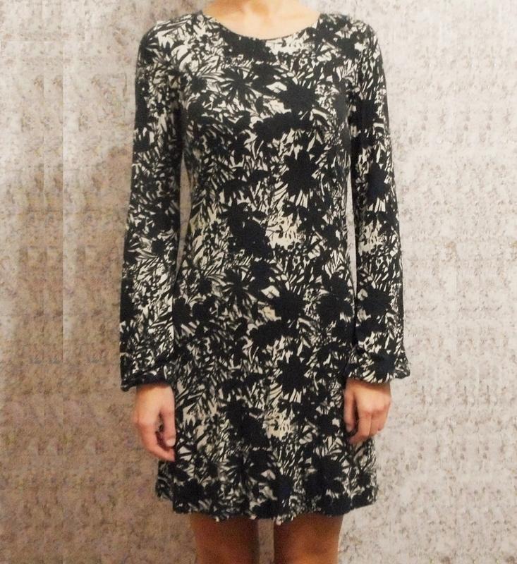 Трикотажное платье с длинным рукавом из вискозы - Фото 2