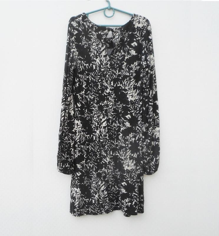 Трикотажное платье с длинным рукавом из вискозы - Фото 5