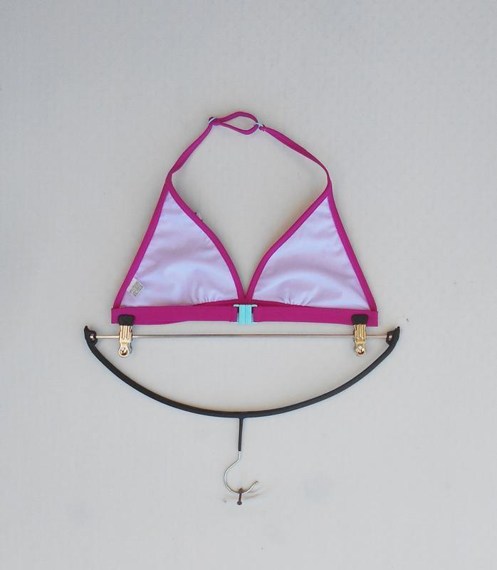 Розовый раздельный купальник с рюшами - Фото 5