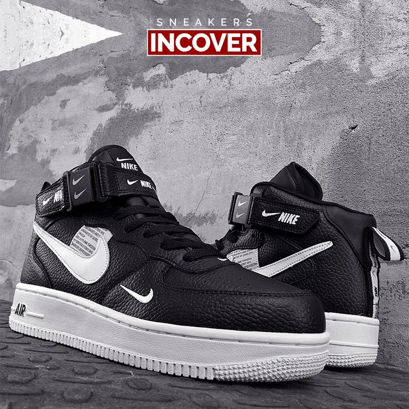 Мужские кроссовки Nike Air Force 1 Mid Black - Фото 4