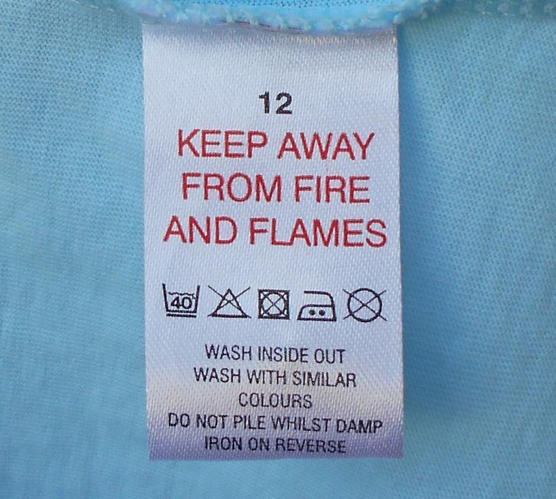 Голубая хлопковая футболка для сна и дома sleepwear - Фото 3