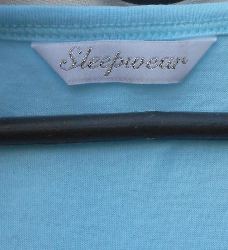 Голубая хлопковая футболка для сна и дома sleepwear - Фото 4