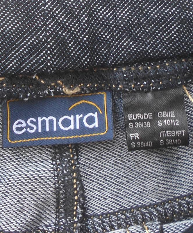 Модные трикотажные летние леггинсы треггинсы на резинке esmara. - Фото 2
