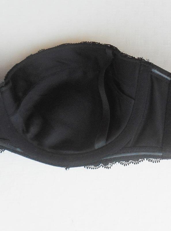 Черный сексуальный бюстгальтер балконет с кружевом  75b - Фото 5
