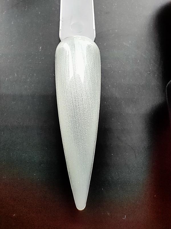 Гель лак для ногтей белый перламутровый №1 нюдовая коллекция c... - Фото 2