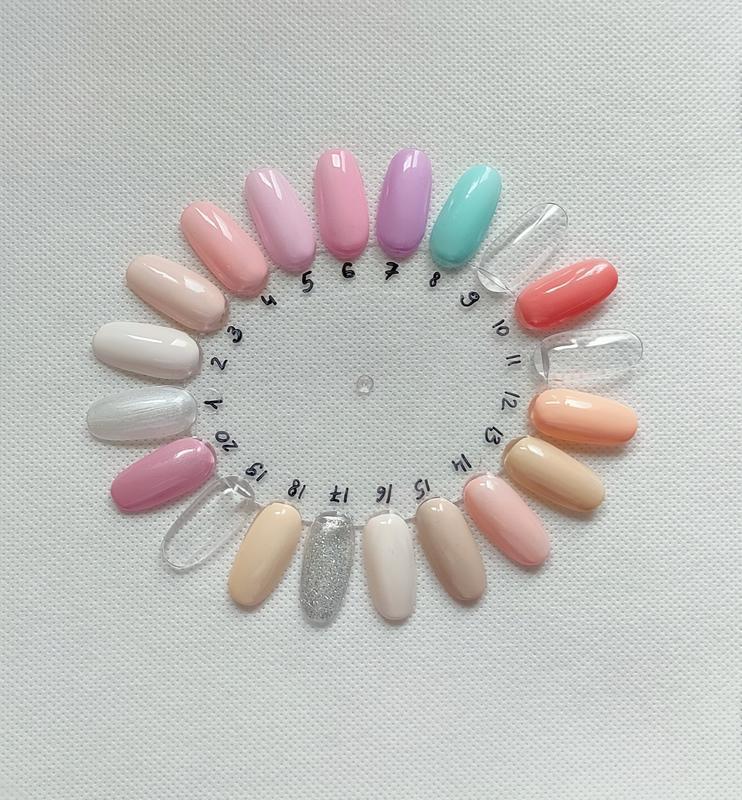 Гель лак для ногтей белый перламутровый №1 нюдовая коллекция c... - Фото 3